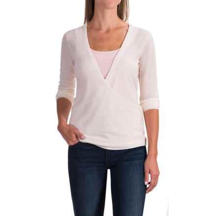 Ibex Arabesque Sweater - Merino Wool (For Women) in Birch - Closeouts