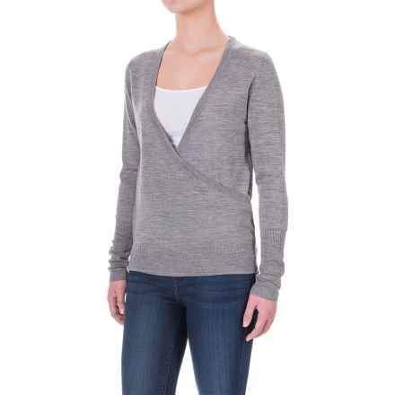 Ibex Arabesque Sweater - Merino Wool (For Women) in Stone Grey Heather - Closeouts