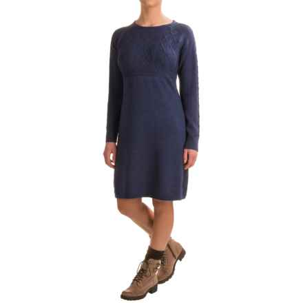 Ibex Arranmore Sweater Dress - Merino Wool, Long Sleeve (For Women) in Baltic Heather - Closeouts