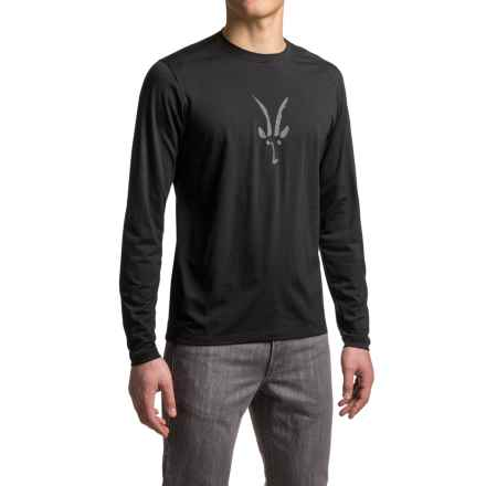 Ibex Art Crew Shirt - Merino Wool, Long Sleeve (For Men) in Black - Closeouts