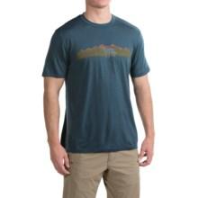 Ibex Art Printed T-Shirt - Merino Wool, Short Sleeve (For Men) in Dogs Matter/Bayou - Closeouts