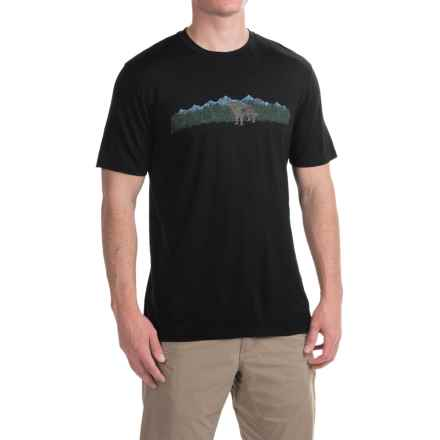 Ibex Art Printed T-Shirt - Merino Wool, Short Sleeve (For Men) in Dogs Matter/Black - Closeouts
