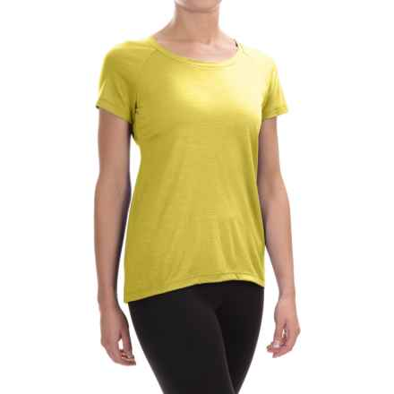 Ibex Aurora Shirt - Merino Wool, Short Sleeve (For Women) in Finch - Closeouts