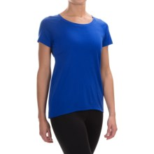 Ibex Aurora Shirt - Merino Wool, Short Sleeve (For Women) in Riviera - Closeouts