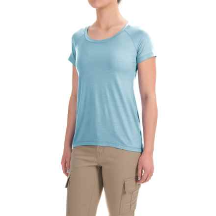 Ibex Aurora T-Shirt - Merino Wool, Short Sleeve (For Women) in Crystal Falls - Closeouts