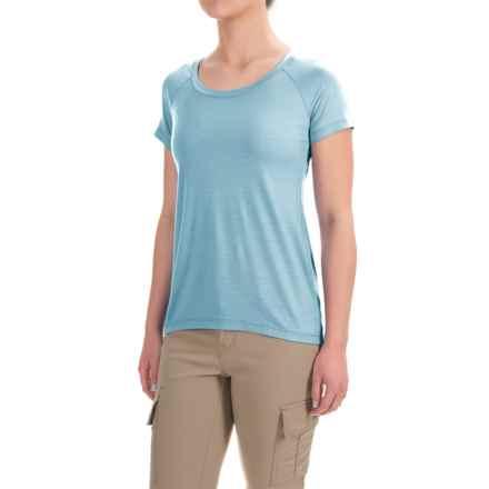 Ibex Aurora T-Shirt - Merino Wool, Short Sleeve (For Women) in Crystal Falls - Closeouts