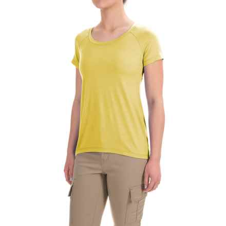 Ibex Aurora T-Shirt - Merino Wool, Short Sleeve (For Women) in Finch - Closeouts