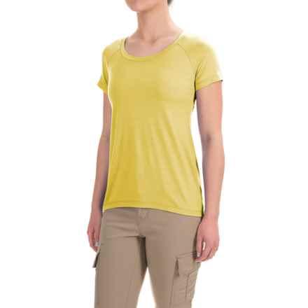 Ibex Aurora T-Shirt - Merino Wool, Short Sleeve (For Women) in Finch - Closeouts