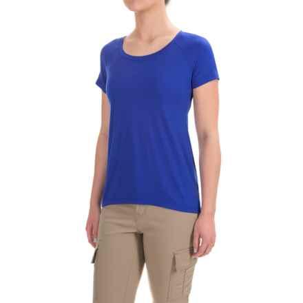 Ibex Aurora T-Shirt - Merino Wool, Short Sleeve (For Women) in Riviera - Closeouts