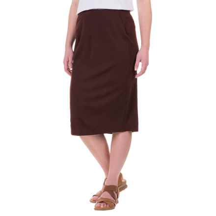 Ibex Ava Midi Skirt - Merino Wool (For Women) in French Roast - Closeouts