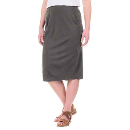 Ibex Ava Midi Skirt - Merino Wool (For Women) in Pewter Heather - Closeouts