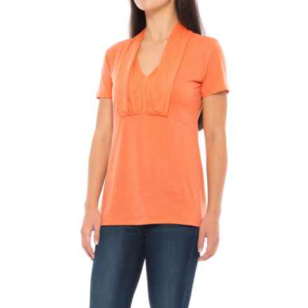 Ibex Braelyn T-Shirt - Merino Wool, Short Sleeve (For Women) in Sunstone - Closeouts
