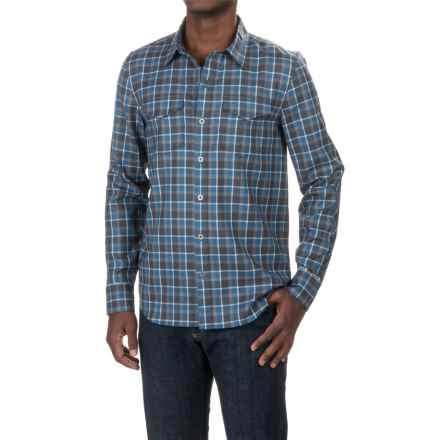 Ibex Bromley Shirt - Merino Wool, Long Sleeve (For Men) in Quarry Plaid - Closeouts
