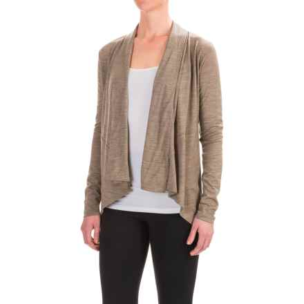 Ibex Cascade Cardigan Sweater - Merino Wool (For Women) in Rye Heather - Closeouts