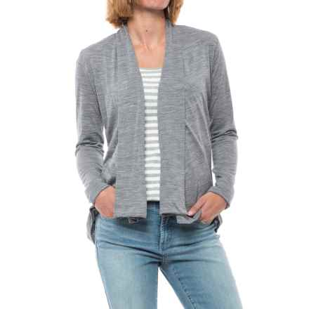 Ibex Cascade Cardigan Sweater - Merino Wool (For Women) in Stone Grey Heather - Closeouts