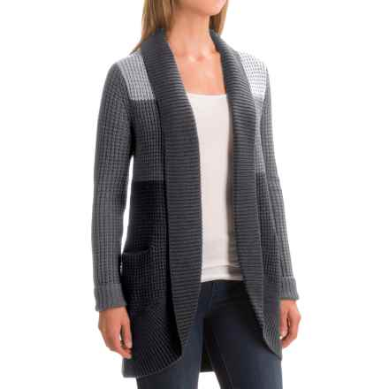 Ibex Chroma Cardigan Sweater - Merino Wool (For Women) in Pewter Heather - Closeouts