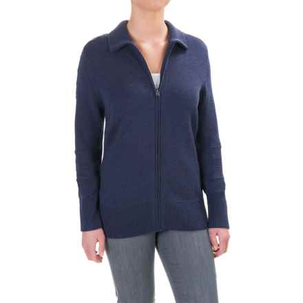 Ibex Chroma Sweater - Merino Wool, Zip Front (For Women) in Baltic Heather - Closeouts