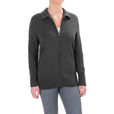 Ibex Chroma Sweater - Merino Wool, Zip Front (For Women) in Pewter Heather - Closeouts