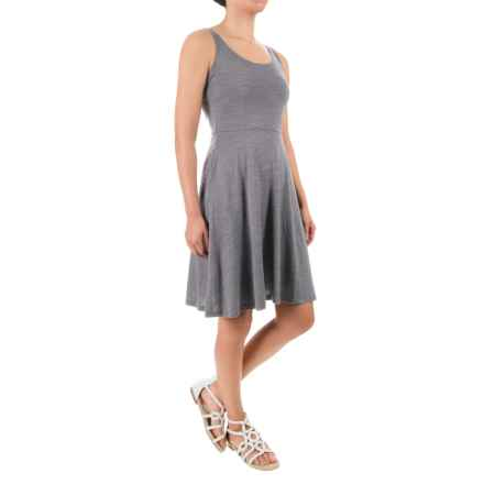 Ibex Costa Azul Dress - Merino Wool, Sleeveless (For Women) in Stone Grey Heather - Closeouts