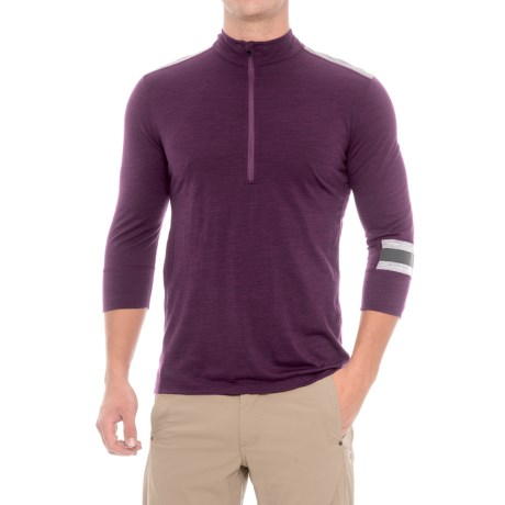 Ibex Enduro Mountain Bike Jersey - Merino Wool, Zip Neck, 3/4 Sleeve (For Men)
