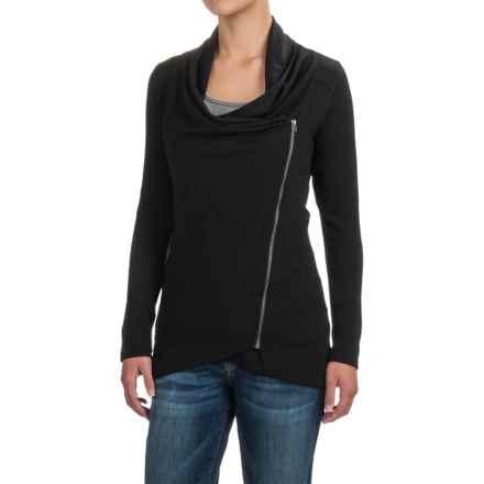 Ibex Freya Cardigan Shirt - Merino Wool, Long Sleeve (For Women) in Black - Closeouts