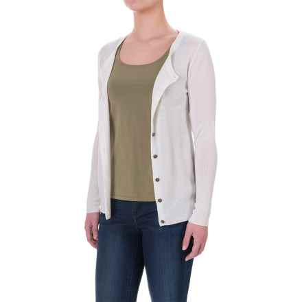 Ibex Harmony Cardigan Sweater - Merino Wool (For Women) in Birch - Closeouts