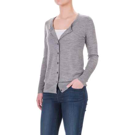 Ibex Harmony Cardigan Sweater - Merino Wool (For Women) in Stone Grey Heather - Closeouts