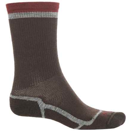 Ibex Hiker Socks - Merino Wool Blend, Crew (For Men and Women) in Archer/Mars Red - Closeouts