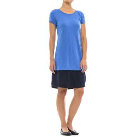 Ibex Hildie Dress - Merino Wool, Short Sleeve (For Women) in Lazuli - Closeouts