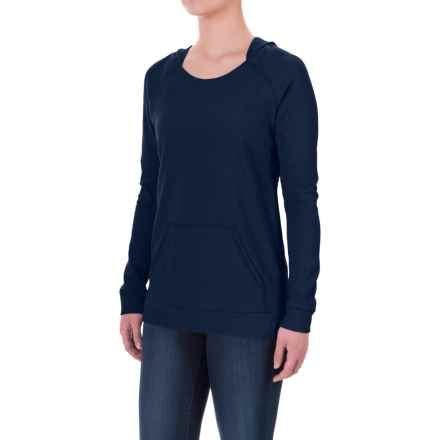 Ibex Hooded Waffle-Knit Shirt - Merino Wool, Long Sleeve (For Women) in Midnight - Closeouts