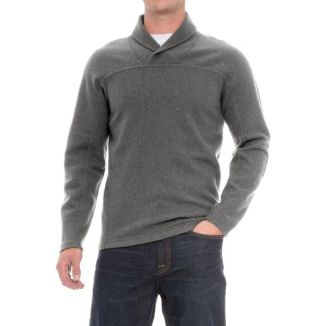 Ibex Hunters Point Sweater - Merino Wool (For Men) in Vintage Stone Heather