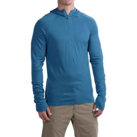 Ibex Indie Hoodie - Merino Wool, Zip Neck (For Men) in Baltic - Closeouts