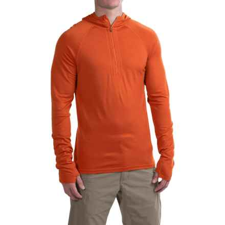 Ibex Indie Hoodie - Merino Wool, Zip Neck (For Men) in Ochre - Closeouts