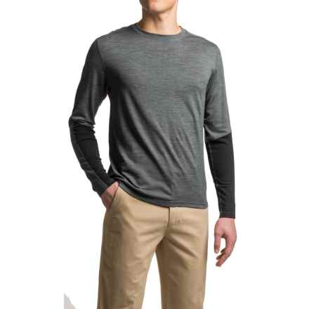 Ibex Indie Shirt - Merino Wool, Long Sleeve (For Men) in Pewter Heather - Closeouts