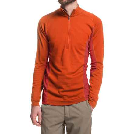 Ibex Indie Shirt - Merino Wool, Zip Neck, Long Sleeve (For Men) in Ochre - Closeouts