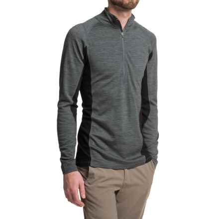 Ibex Indie Shirt - Merino Wool, Zip Neck, Long Sleeve (For Men) in Pewter Heather - Closeouts