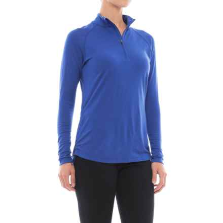 Ibex Indie Warmup Shirt - Merino Wool, Zip Neck, Long Sleeve (For Women) in Riviera - Closeouts