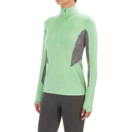 Ibex Indie Zip Neck Pullover Shirt - Merino Wool, Long Sleeve (For Women) in Patina - Closeouts