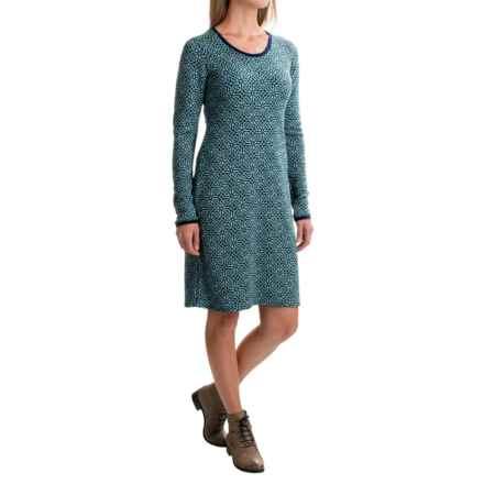 Ibex Juliet Annis Dress - Merino Wool, Long Sleeve (For Women) in Celtic/Midnight - Closeouts