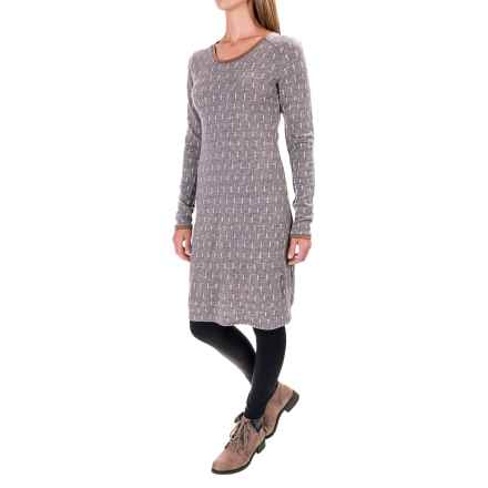 Ibex Juliet Annis Dress - Merino Wool, Long Sleeve (For Women) in Dashing/Stone Grey Heather - Closeouts