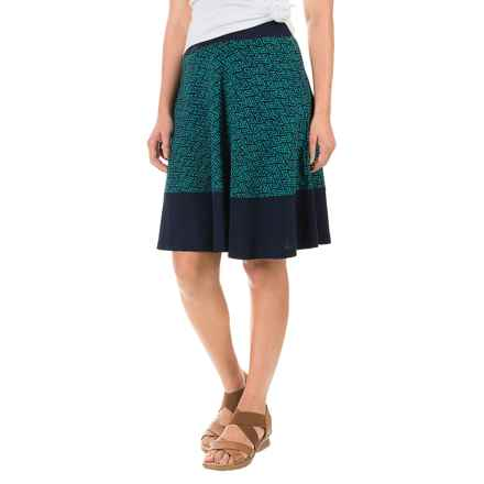 Ibex Juliet Kismet Skirt - Merino Wool (For Women) in Willow / Midnight - Closeouts