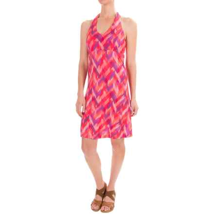 Ibex Kira Printed Dress - Merino Wool, Sleeveless (For Women) in Chevron/Peony - Closeouts