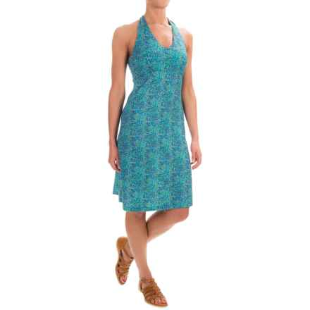 Ibex Kira Printed Dress - Merino Wool, Sleeveless (For Women) in River / Waterfall - Closeouts