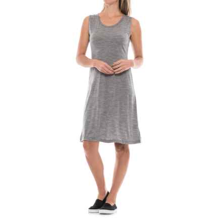 Ibex Kya Dress - Merino Wool, Sleeveless (For Women) in Stone Grey Heather - Closeouts