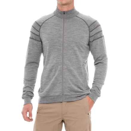 Ibex Latitude Full-Zip Sweatshirt - Merino Wool (For Men) in Stone Grey Heather - Closeouts