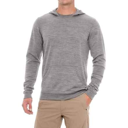 Ibex Latitude Hoodie - Merino Wool (For Men) in Stone Grey Heather - Closeouts