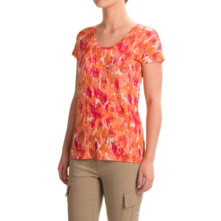 Ibex Layla T-Shirt - Merino Wool, Short Sleeve (For Women) in Brushes/Daybreak - Closeouts