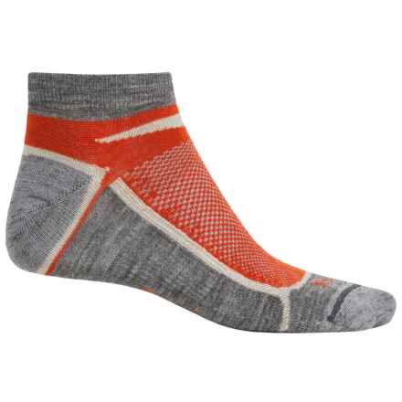 Ibex Lite Low-Cut Socks - Wool, Below the Ankle (For Men and Women) in Blood Orange - Closeouts