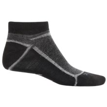Ibex Lite Low-Cut Socks - Wool, Below the Ankle (For Men and Women) in Stone Grey Heather - Closeouts