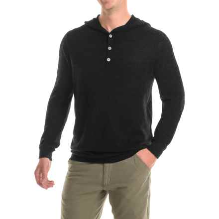 Ibex Mason Merino Wool Sweater - Hooded (For Men) in Black - Closeouts